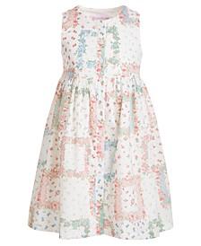 Toddler Girls Floral Patchwork Dress