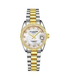 Women's Gold - Silver Tone Stainless Steel Bracelet Watch 31mm