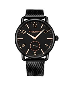 Men's Black Stainless Steel Bracelet Watch 42mm