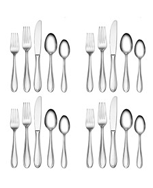 Hampton Signature Nobility Frosted 20-PC  Flatware Set, Service for 4