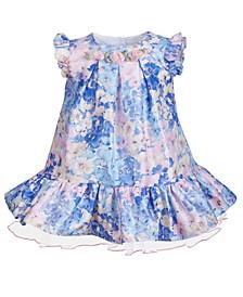 Baby Girls Watercolor-Print Floral Dress