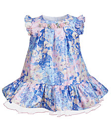 Bonnie Baby Baby Girls Watercolor-Print Floral Dress