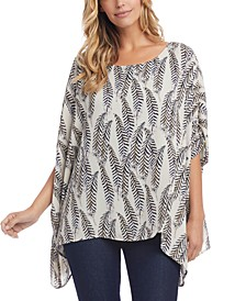 Printed Scarf Top