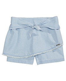 Big Girls Chambray Tie Shorts