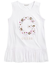 Big Girls Embellished Floral Logo Top