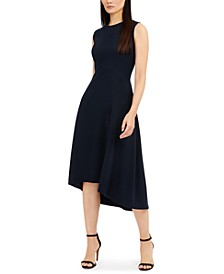 Sleeveless Asymmetrical-Hem Dress