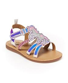 Oshkosh B'Gosh Toddler and Little Kids Girls Sparkie Fashion Sandal