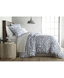 Forevermore Luxury Cotton Sateen Duvet Cover and Sham Set, Queen