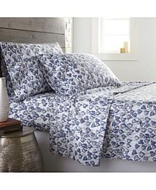 Forevermore Luxury Cotton Sateen 4 Piece Extra Deep Pocket Sheet Set, King