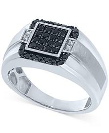 Men's Diamond Cluster Ring (1/2 ct. t.w.) in Sterling Silver