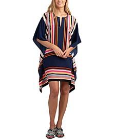 Theodora Silk Striped Dress