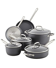 Anolon Accolade Forged Hard-Anodized Precision Forge 10 Piece Cookware Set