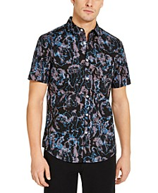 INC Men's Rustic Short Sleeve Shirt, Created for Macy's