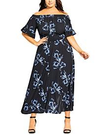 Trendy Plus Size Hiroto Floral Maxi Dress