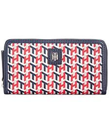 Julia Cube Print Nylon Zip Wallet