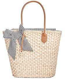 Straw Beach Tote, Created for Macy's