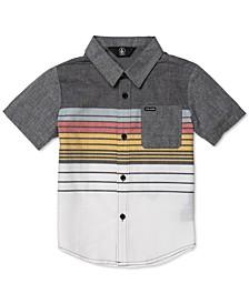Toddler & Little Boys Cotton Combo Stripe Short-Sleeve Shirt