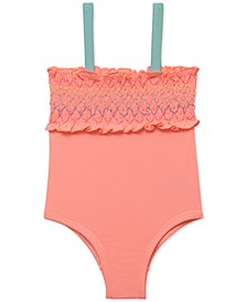 Baby Girls Smocked One-Piece Swimsuit