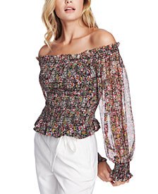 1.STATE Forest Garden Off-The-Shoulder Top