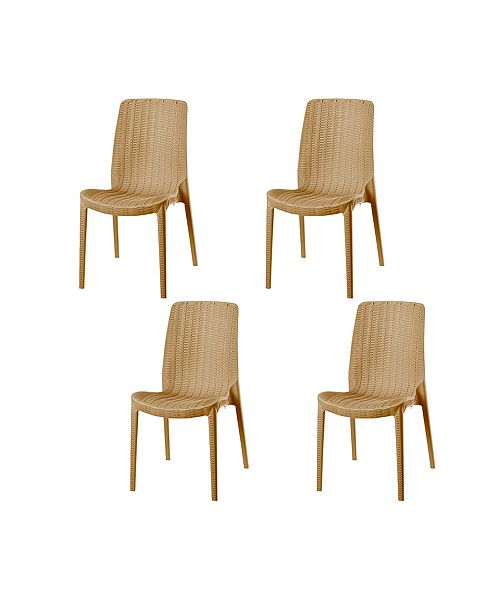 Rue Stackable Rattan Dining Chair Set