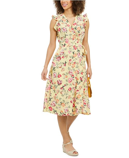 Charter Club Mommy & Me Floral-Print Wrap Dress, In Regular and Petite, Created for Macy's