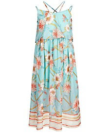 Big Girls Floral-Print Popover Maxi Dress