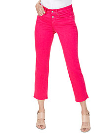 NYDJ Marilyn Button-Fly Ankle Jeans