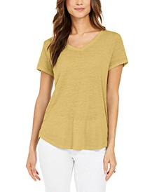 Burnout V-Neck T-Shirt, In Regular and Petite, Created for Macy's