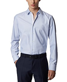 BOSS Men's Eliott Light Pastel Blue Shirt