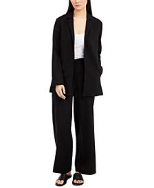 Notch-Lapel Jacket & Straight Pants