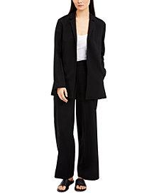 Eileen Fisher Notch-Lapel Jacket & Straight Pants