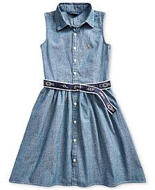 Polo Ralph Lauren Toddler Girls Belted Chambray Shirtdress