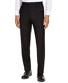 CLOSEOUT! Men's Classic-Fit Airsoft Stretch Black Solid Suit Pants