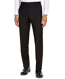 CLOSEOUT! Michael Kors Men's Classic-Fit Airsoft Stretch Black Solid Suit Pants
