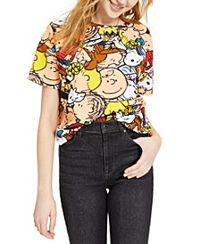 Juniors' Peanuts Printed T-Shirt