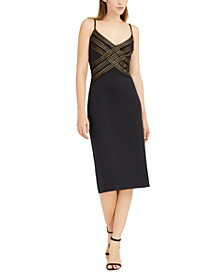 Crisscross-Detail Midi Dress