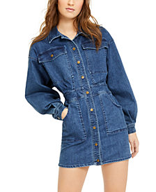 Free People Bo Denim Mini Dress