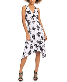 Floral-Print Handkerchief-Hem Dress, Regular & Petite Sizes
