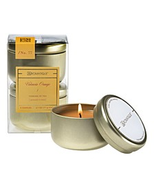 Valencia Orange Votive Candle Set