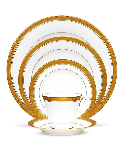 Noritake Crestwood Gold Dinnerware Collection