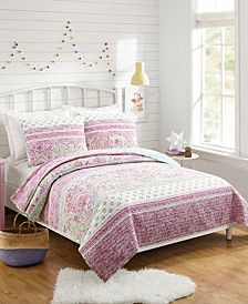 Palm Beach Paisley Twin 2-Piece Quilt Set