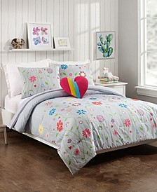 Growing Garden 4-Piece Full/Queen Comforter Set