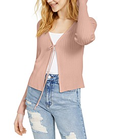 Juniors' Ribbed Flyaway Sweater