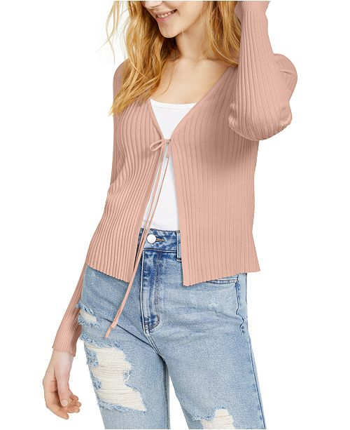 Ultra Flirt Juniors' Ribbed Flyaway Sweater