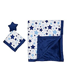 Baby Boys and Girls 2-Piece Blanket and Toy Security Blanket Set