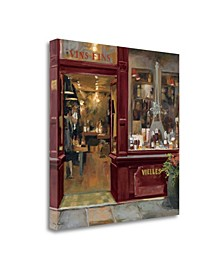 Parisian Wine Shop Red Crop by Marilyn Hageman Giclee on Gallery Wrap Canvas
