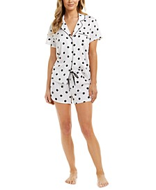 Women's Printed Pajama Shorts Set, Created for Macy's