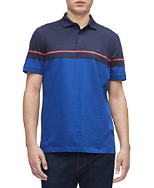 Men's Liquid Touch Colorblock Stripe Polo Shirt