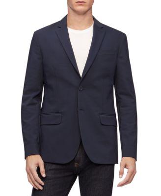 $720 BAR III Men BLUE SLIM FIT 2 PIECE BUTTON WOOL SUIT JACKET BLAZER PANTS 44 R