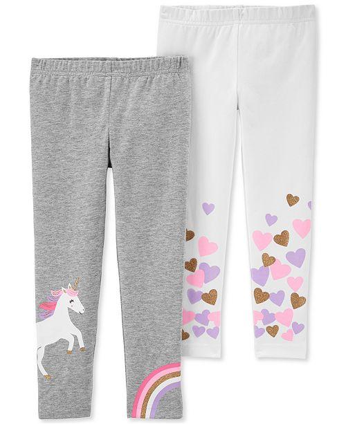 Carter's Toddler Girls 2-Pk. Unicorn & Hearts Leggings